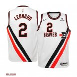 Divise Basket Personalizzate NBA Bambino Earned Edition L.A.Clippers NO.2 Kawhi Leonard Bianco