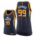 Divise Basket Personalizzate NBA Donna Utah Jazz NO.99 Jae Crowder Marino Icon 2018