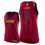 Divise Basket Personalizzate NBA Donna Cleveland Cavaliers 2018 Finale Campioni NO.0 Kevin Love Rosso Icon Patch