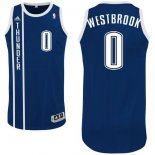Divise Basket Personalizzate NBA Oklahoma City Thunder NO.0 Russell Westbrook Retro Blu