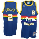 Divise Basket Personalizzate NBA Denver Nuggets NO.2 Alex English Blu
