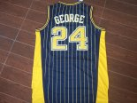 Divise Basket Personalizzate NBA Indiana Pacers NO.24 Paul George Blu Striscia
