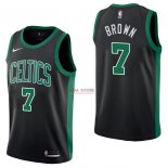 Divise Basket Personalizzate NBA Boston Celtics NO.7 Jaylen Brown Nero Statement 2017/2018