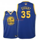 Divise Basket Personalizzate NBA Bambino Golden State Warriors Finale Campioni 2018 NO.35 Kevin Durant Blu Icon Patch