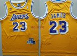 Divise Basket Personalizzate NBA L.A.Lakers NO.23 Lebron James Retro Giallo