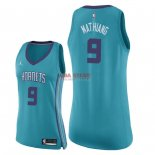 Divise Basket Personalizzate NBA Donna Charlotte Hornets NO.9 Mangok Mathiang Verde Icon 2018