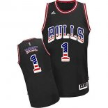 Divise Basket Personalizzate NBA USA Flag Special Edition NO.1 Rose Nero