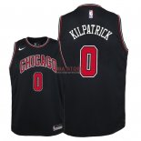 Divise Basket Personalizzate NBA Bambino Chicago Bulls NO.0 Sean Kilpatrick Nero Statement 2018