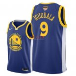 Divise Basket Personalizzate NBA Golden State Warriors 2018 Finale Campioni NO.9 Andre Iguodala Blu Icon Patch