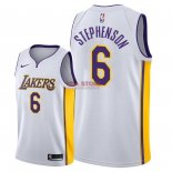 Divise Basket Personalizzate NBA L.A.Lakers NO.6 Lance Stephenson Bianco Association 2018