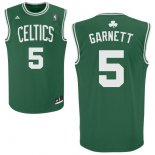 Divise Basket Personalizzate NBA Boston Celtics NO.5 Kevin Garnett Verde Bianco