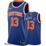 Divise Basket Personalizzate NBA New York Knicks NO.13 Marcus Morris Sr Blu Icon 2019-20