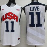 Divise Basket Personalizzate NBA 2012 USA Kevin Love NO.11 Bianco