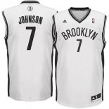 Divise Basket Personalizzate NBA Brooklyn Nets NO.7 Earvin Johnson Bianco