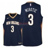 Divise Basket Personalizzate NBA Bambino New Orleans Pelicans NO.3 Nikola Mirotic Marino Icon 2018