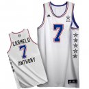 Divise Basket Personalizzate NBA 2015 All Star NO.7 Carmelo Anthony Bianco