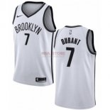 Divise Basket Personalizzate NBA Bambino Brooklyn Nets NO.7 Kevin Durant Bianco Association 2019-20