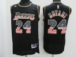 Divise Basket Personalizzate NBA USA Flag Special Edition NO.24 Bryant Nero