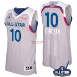 Divise Basket Personalizzate NBA 2017 All Star NO.10 Demar Derozan Grigio