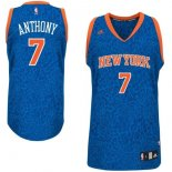 Divise Basket Personalizzate NBA New York Knicks Luce Leopard NO.7 Anthony Blu