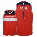 Divise Basket Personalizzate NBA Bambino Washington Wizards NO.1 Austin Rivers Rosso Icon 2018