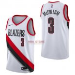 Divise Basket Personalizzate NBA Portland Trail Blazers NO.3 C.J. McCollum Bianco Association 2017/2018