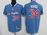 Divise Basket Personalizzate NBA L.A.Clippers Manica Corta NO.34 Paul Pierce Blu