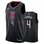 Divise Basket Personalizzate NBA L.A.Clippers NO.4 Milos Teodisic Nero Statement 2018