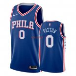 Divise Basket Personalizzate NBA Philadelphia Sixers NO.0 Justin Patton Blu Icon 2018