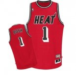 Divise Basket Personalizzate NBA Miami Heat NO.1 Chris Bosh Retro Rosso