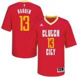 Divise Basket Personalizzate NBA Houston Rockets Manica Corta 13 James Harden Rosso