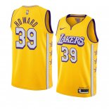 Divise Basket Personalizzate NBA Nike L.A.Lakers NO.39 Dwight Howard Nike Amarillo Ciudad 2019-20