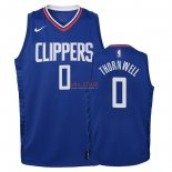 Divise Basket Personalizzate NBA Bambino L.A.Clippers NO.0 Sindarius Thornwell Blu Icon 2018
