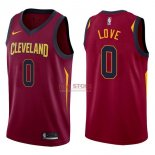 Divise Basket Personalizzate NBA Cleveland Cavaliers NO.0 Kevin Love Rosso Icon 2017/2018