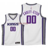 Divise Basket Personalizzate NBA Bambino Sacramento Kings NO.0 Willie Cauley Stein Bianco Association 2018