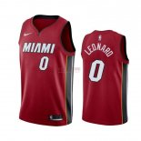 Divise Basket Personalizzate NBA Nike Miami Heat NO.0 Meyers Leonard Rosso Statement 2019-20