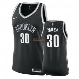 Divise Basket Personalizzate NBA Donna Brooklyn Nets NO.30 Dzanan Musa Nero Icon 2018