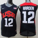 Divise Basket Personalizzate NBA 2012 USA James Harden NO.12 Nero