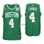 Divise Basket Personalizzate NBA Boston Celtics NO.4 Isaiah Thomas Verde 2017/2018