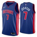 Divise Basket Personalizzate NBA Detroit Pistons NO.7 Stanley Johnson Blu Icon 2018