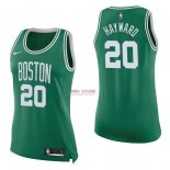 Divise Basket Personalizzate NBA Donna Boston Celtics NO.20 Gordon Hayward Verde Icon 2017/2018