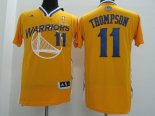 Divise Basket Personalizzate NBA Golden State Warriors Manica Corta NO.11 Klay Thompson Giallo