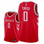Divise Basket Personalizzate NBA Houston Rockets NO.0 Marquese Chriss Rosso Icon 2018
