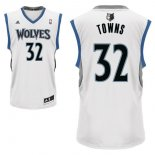Divise Basket Personalizzate NBA Minnesota Timberwolves NO.32 Karl Anthony Towns Bianco