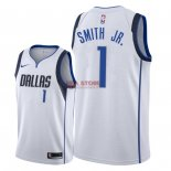 Divise Basket Personalizzate NBA Dallas Mavericks NO.1 Dennis Smith Jr Bianco Association 2018