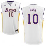 Divise Basket Personalizzate NBA L.A.Lakers NO.10 Steve Nash Bianco