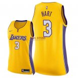 Divise Basket Personalizzate NBA Donna Los Angeles Lakers NO.3 Josh Hart Giallo Icon 2018