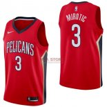 Divise Basket Personalizzate NBA New Orleans Pelicans NO.3 Nikola Mirotic Rosso Statement 2017/2018