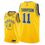 Divise Basket Personalizzate NBA Golden State Warriors NO.11 Klay Thompson Giallo Città 2018/2019