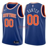 Divise Basket Personalizzate NBA New York Knicks NO.0 Enes Kanter Blu Icon 2017/2018